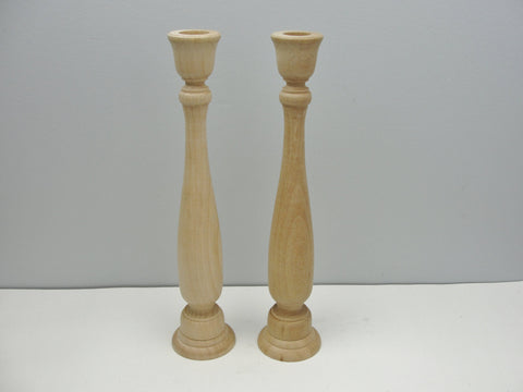 "11"" wood candle sticks set of 2 - Wood parts - Craft Supply House"