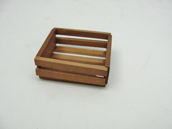 Dollhouse miniature wood fruit or vegetable crate