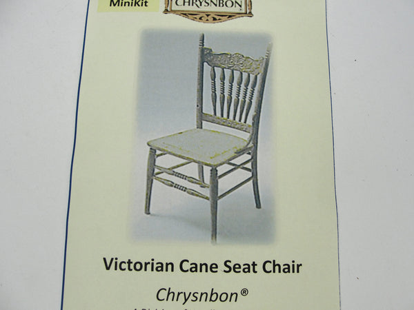 Miniature Victorian Cane Seat chair kit dollhouse furniture - Miniatures - Craft Supply House