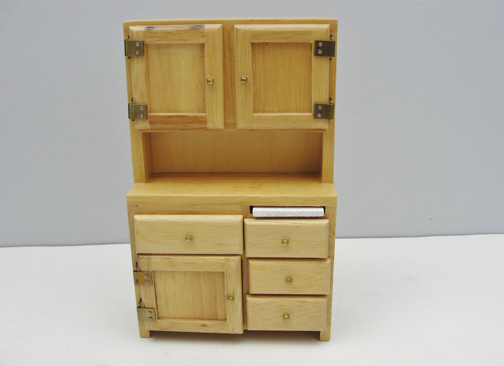 Dollhouse furniture miniature kitchen hutch or hoosier