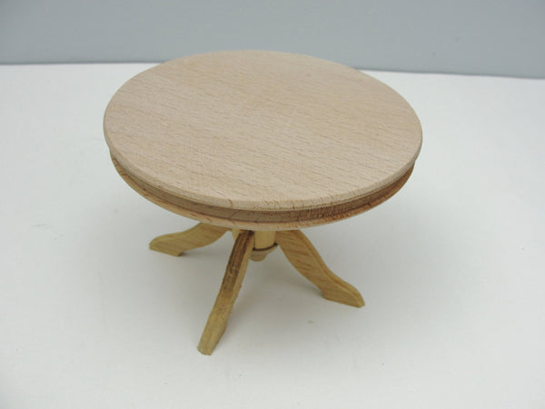 Dollhouse furniture miniature round oak pedestal table - Miniatures - Craft Supply House