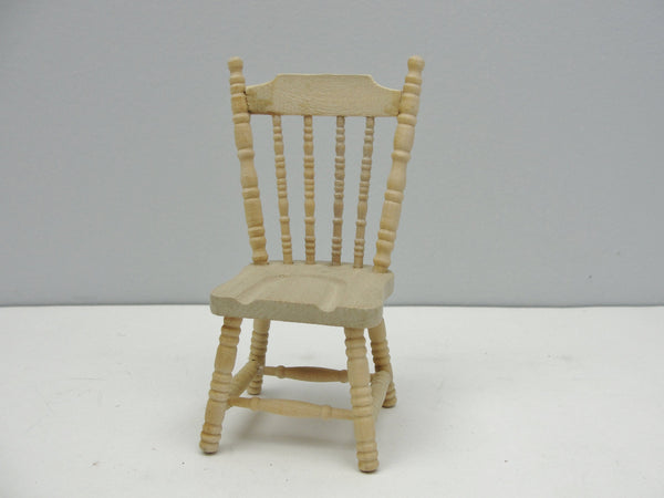 Dollhouse furniture miniature spindle back dining chair - Miniatures - Craft Supply House