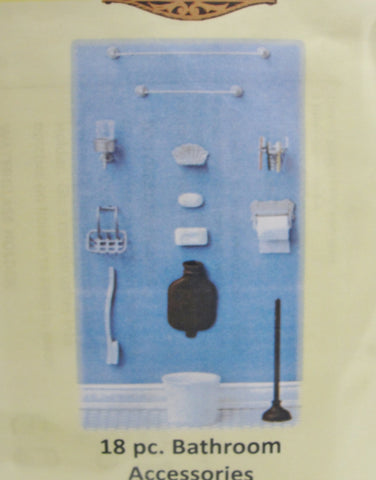 Miniature dollhouse bathroom accessories kit - Miniatures - Craft Supply House