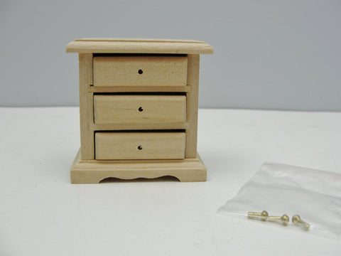 Dollhouse furniture miniature bedside nightstand or side table kit - Miniatures - Craft Supply House