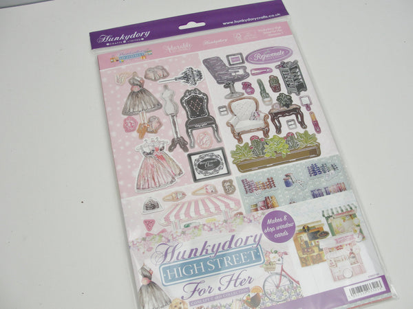 Hunkydory Highstreet for Her card making kit makes 8 cards - Mixed Media Art Supplies - Craft Supply House