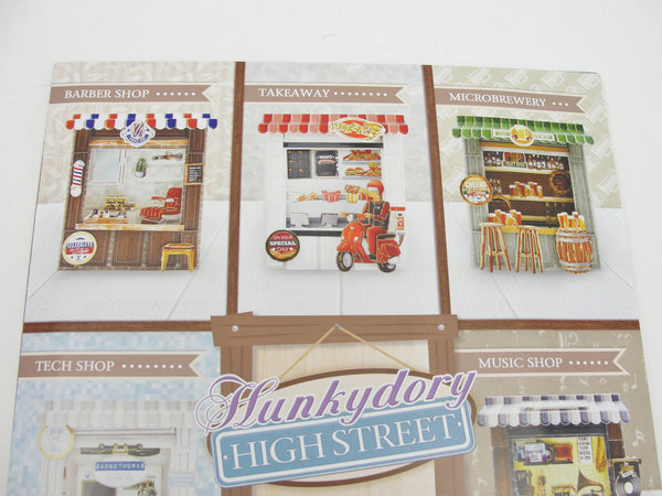 Hunkydory Highstreet for Him card making kit makes 8 cards - Mixed Media Art Supplies - Craft Supply House