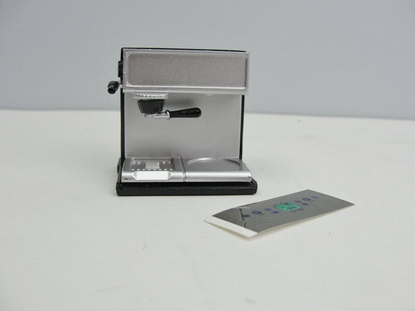 Dollhouse miniature Espresso machine choose with or without carafe and cup