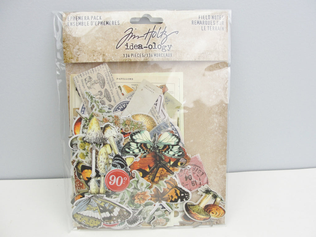 Tim Holtz Idea-ology Field Notes ephemera pack