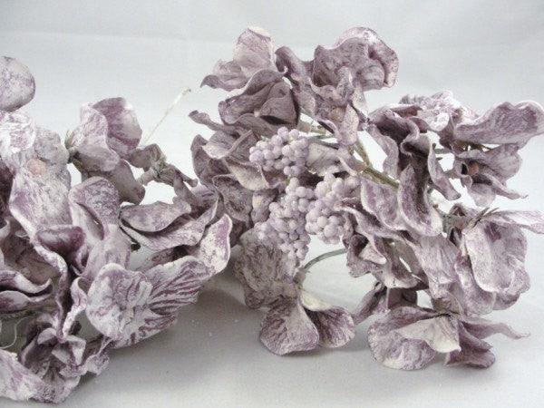 3 Purple Hydrangea Blooms, artificial hydrangea, hydrangea pick - Floral Supplies - Craft Supply House