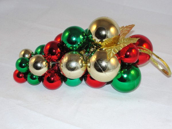 Plastic Christmas Balls floral Wreath Decorations Red Green Gold - General Crafts - Craft Supply House