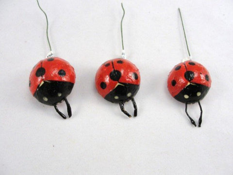 "Ladybug 1"" set of 3 floral supplies - Floral Supplies - Craft Supply House"
