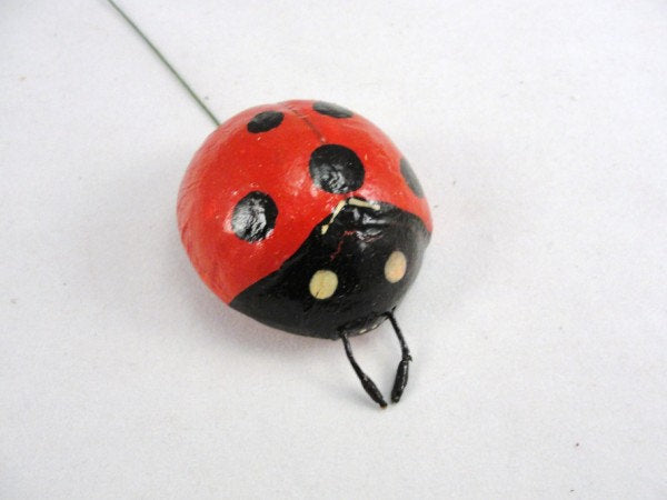 Red Ladybug 2 inches set of 3 floral supplies - Floral Supplies - Craft Supply House
