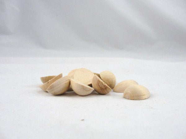 12 Wooden miniature wren split egg halves - Wood parts - Craft Supply House