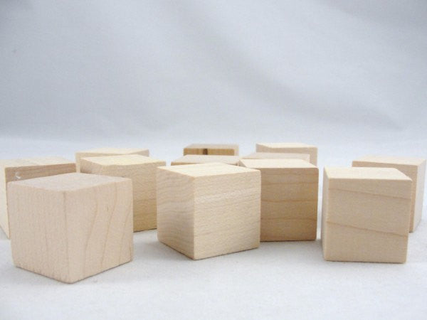 "Unfinished 1"" Small wooden cube, one inch wooden blocks.  Choose your quantity - Wood parts - Craft Supply House"
