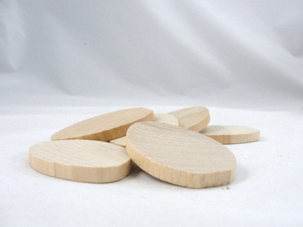 Wooden egg slices set of 6 - Wood parts - Craft Supply House