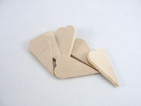 "6 Wooden primitive heart 2 3/4 inch (2.75"") tall 1/4"" thick - Wood parts - Craft Supply House"