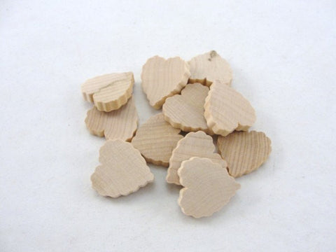 "12 Wooden scalloped hearts 1 inch (1"") wide 3/16"" thick unfinished wood hearts diy - Wood parts - Craft Supply House"