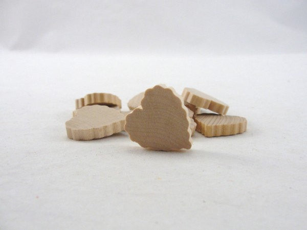 "12 Wood scalloped hearts 1 inch (1"") wide 3/16"" thick - Wood parts - Craft Supply House"