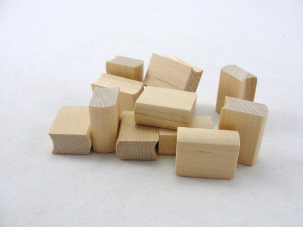 "12 Miniature 1"" Wooden books unfinished - Wood parts - Craft Supply House"