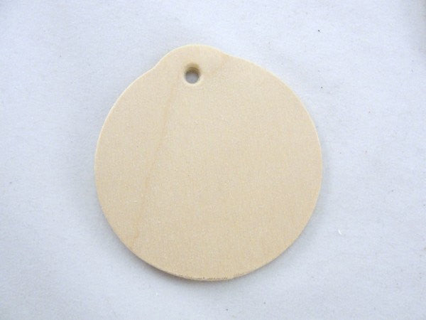 "Wooden ornament cutout, gift tag 2 3/8"" wide and 1/8"" thick set of 6"