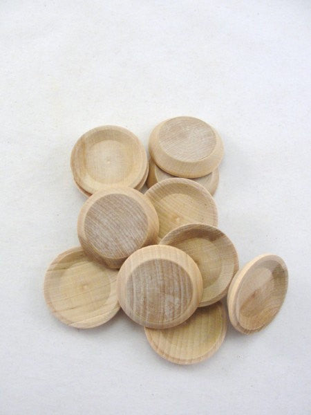 "Miniature wooden plate 1 1/2"" set of 6 - Wood parts - Craft Supply House"