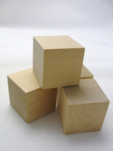 "2 inch wooden cube, 2"" unfinished wooden block, unfinished wood cube.  Choose your quantity - Wood parts - Craft Supply House"