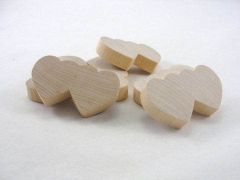 6 Double wooden heart DIY unfinished - Wood parts - Craft Supply House