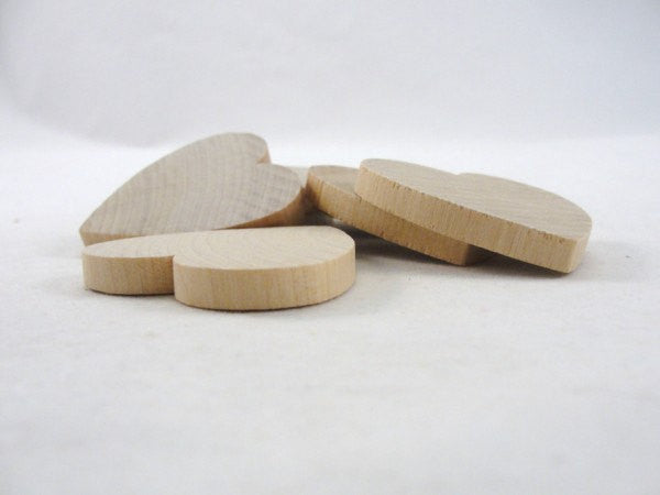 "Wooden hearts 2 inch (2"") 1/4"" thick - Wood parts - Craft Supply House"