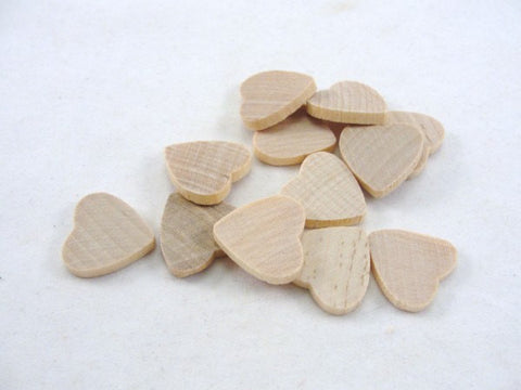 "12 Wooden hearts traditional 3/4 inch wide 1/8"" thick .75 wood heart unfinished diy - Wood parts - Craft Supply House"