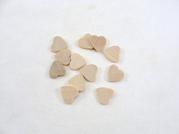 "12 Wooden traditional hearts 3/4 inch wide 1/8"" thick - Wood parts - Craft Supply House"