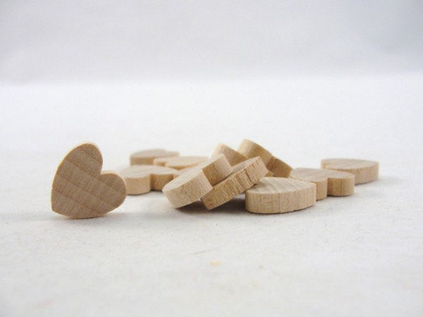 "12 Wooden hearts 1/2 inch wide (.5"") 1/8"" thick unfinished wood hearts diy - Wood parts - Craft Supply House"