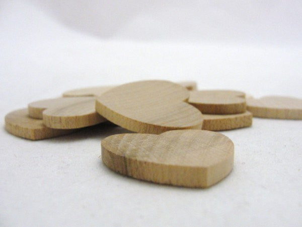 "Wooden hearts 1 inch (1"") wide, 1/8"" thick unfinished - Wood parts - Craft Supply House"