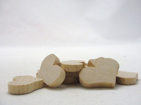 "12 Wooden hearts country 1 1/4 inch (1.25"") wide 3/16"" thick unfinished wood hearts diy - Wood parts - Craft Supply House"