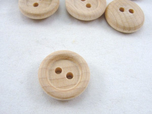 5/8 inch Wooden buttons unfinished choose your quantity - Wood parts - Craft Supply House