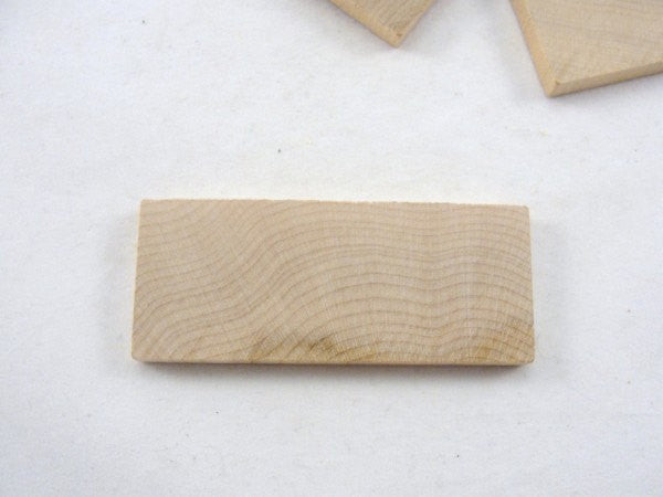 "Wooden rectangle 3"" x 1.25"" unfinished DIY set of 6 - Wood parts - Craft Supply House"