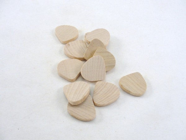 Wooden tear drop unfinished diy set of 12 - Wood parts - Craft Supply House