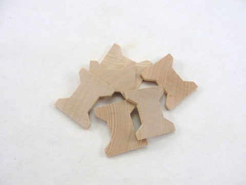 Wooden spool cutout set of 6 - Wood parts - Craft Supply House