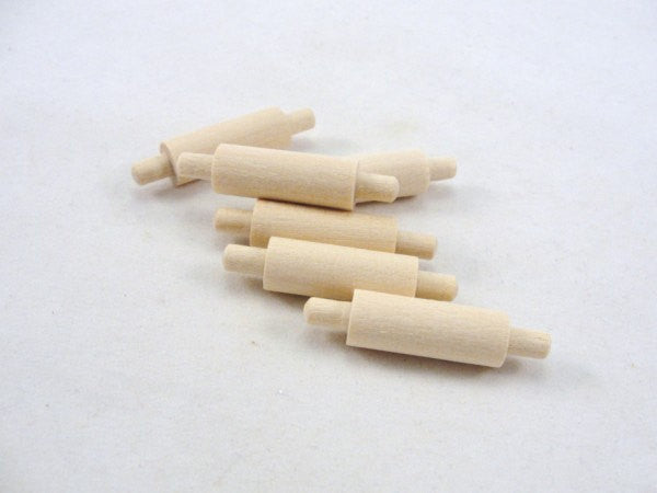 Miniature rolling pin set of 6 - Wood parts - Craft Supply House