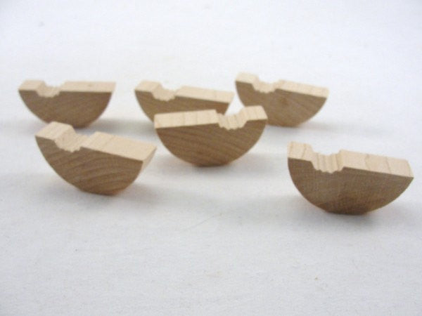 "Chunky wood Watermelon 1 3/4"" inch long 1/2"" thick set of 6 - Wood parts - Craft Supply House"