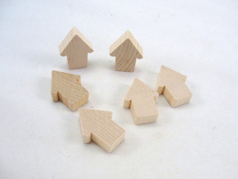 6 Miniature wooden martin birdhouse cutouts - Wood parts - Craft Supply House