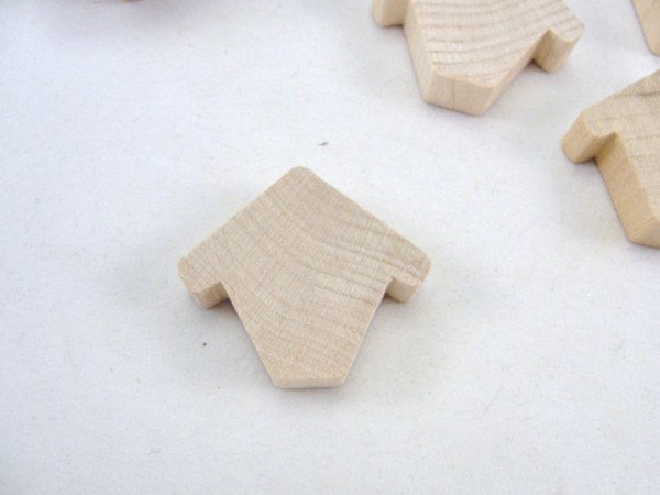 "Miniature wooden birdhouse Chickadee house 3/8"" thick set of 6 - Wood parts - Craft Supply House"