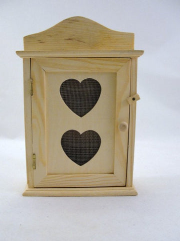Unfinished wooden trinket box with heart cut out - Wood parts - Craft Supply House