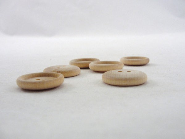 "7/8"" wooden buttons unfinished - Wood parts - Craft Supply House"
