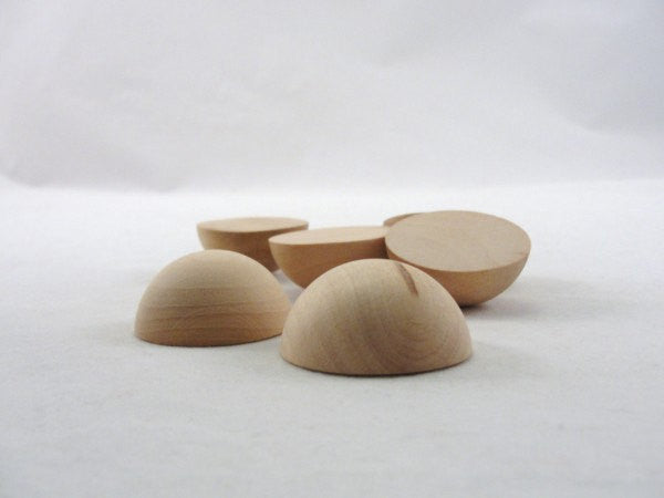 "Split wooden ball 1 1/2"" (1.5"") set of 6 - Wood parts - Craft Supply House"
