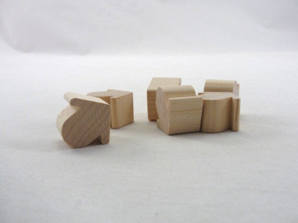 Miniature chunky wooden birdhouse Robin house set of 6 - Wood parts - Craft Supply House