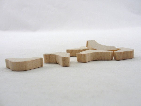 "Miniature bird wood 1 1/4"" x 1/4"" unfinished diy set of 6 - Wood parts - Craft Supply House"