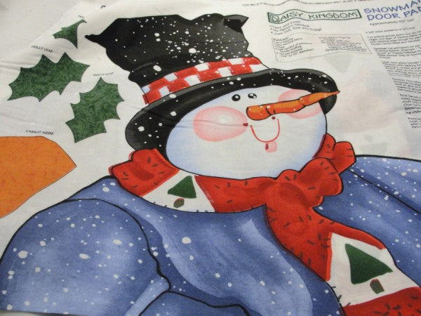 Daisy Kingdom Snowman Door panel DIY make your own - Fabric - Craft Supply House