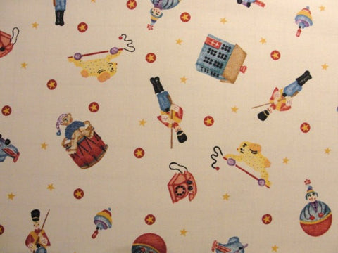 Daisy Kingdom Tossed Toys fabric Yardage - Fabric - Craft Supply House