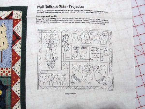 Angel sampler fabric DIY wall quilt or tote bag