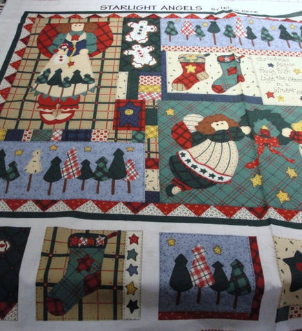 Angel sampler fabric DIY wall quilt or tote bag - Fabric - Craft Supply House
